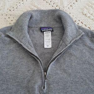 {Patagonia} Soft wool blend 1/4 zip sweater